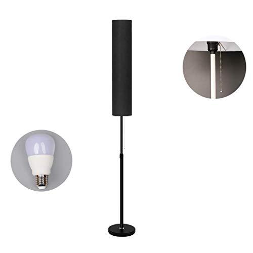 WLG Accueil, nouveauté de plancher-Led Lampadaire Salon Chambre Etude Tissu Lampe Lampe Lumière Décorative, Taille 15 * 130-166Cm Plancher Uplighter WLG/Black et Bl