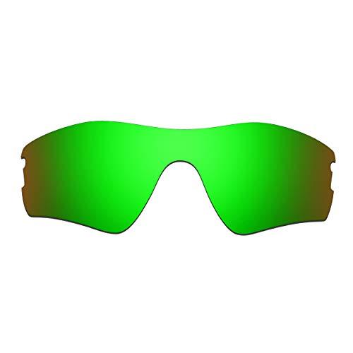 HKUCO Verstärken Ersatz-Brillengläser für Oakley Radar Pitch Sonnenbrille Grün Polarisiert