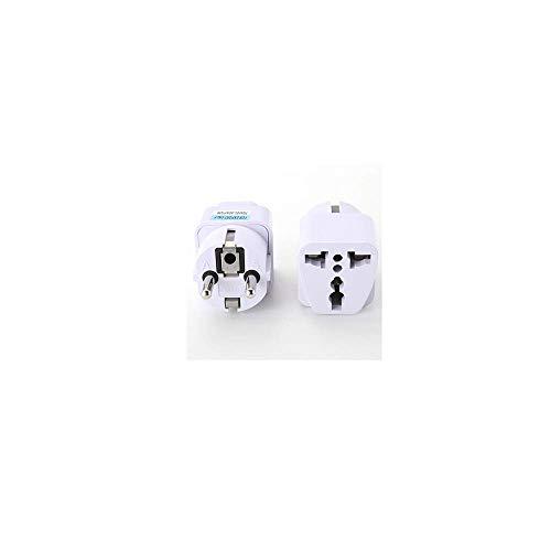 Stecker Adapter Handy-Schnellladegerät Ladegerät Flachladegerät Ladegerät Universal EU Stecker AC 250V 10A 1000W,Netzstecker Reiseladegerät Adapter Outlet Converter runde Stifte (White) -