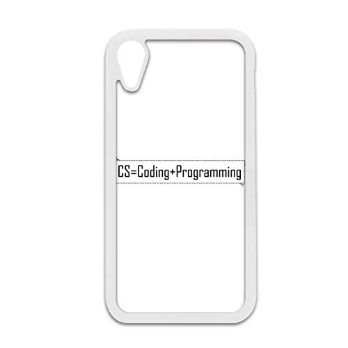 GZD CS Contains Coding and Programming iPhone XR Cases White iPhonecase  Cover Apple Case
