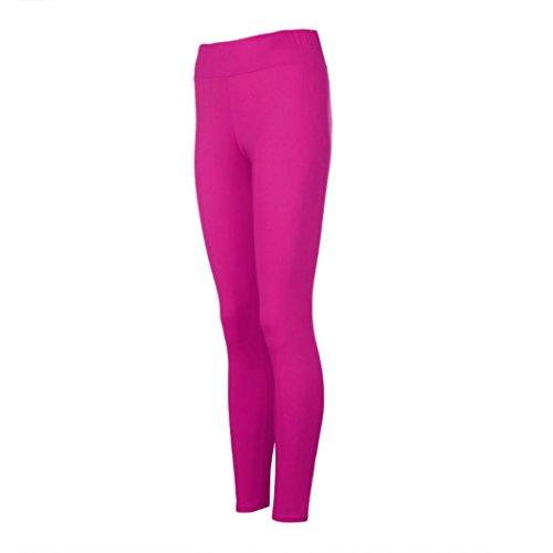 """Pantalons Athlétiques, Ineternet """"LIFT SQUAT"""" Femmes Taille Pantalon de Sport Haute Fitness Yoga Patchwork en maille Stretch Recadrée Leggings Rose vif"""