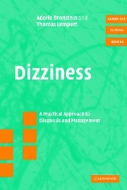 Dizziness with CD-ROM: A Practical Approach to Diagnosis and Management (Cambridge Clinical Guides)