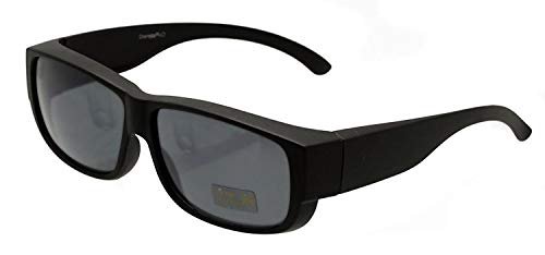 Sonnenbrille polarisiert Unisex Sonnen-Überbrille für Brillenträger, UV400 Überbrille für Damen und Herren - FIT OVER Sonnenbrillen werden über die normale Brille getragen (Schwarz - Modell 2019)