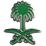 بروش (دبوس) شعار المملكة العربية السعودية دبل سيف ونخيل