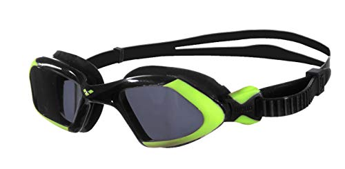 arena Unisex Schwimmbrille Viper, Smoke/Acid-Lime/Black, One size, 92389,