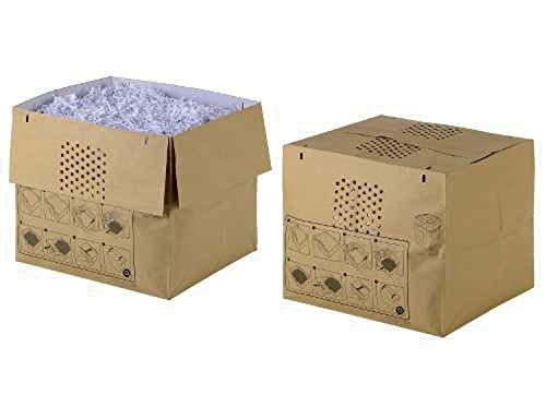 Rexel Dehnbare Abfallsäcke für Aktenvernichter Auto+ 500X/M 50 Stück Auffangvolumen von 80 L mit praktischem Selbstverschluss