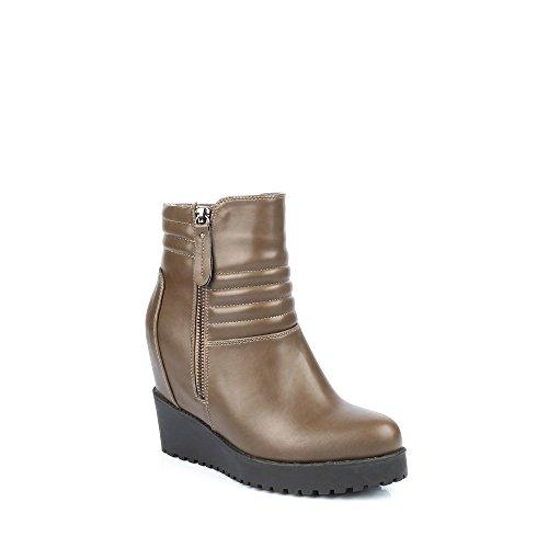 Ideal Shoes-Stiefel mit Veräußerungspositionen, Sohle: Gummisohle Ilena Beige - Taupe