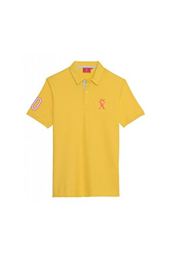 Vicomte Herren Poloshirt Gelb - Gelb