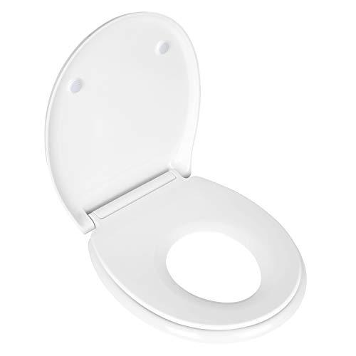 Homfa Kinder Familien WC Sitz Absenkautomatik Toilettendeckel PP Klodeckel Toilettensitz mit Soft-Close Funktion abnehmbar zur Reinigung von der Keramik