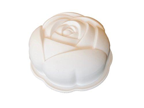 ROYAL HOUSEWARE 3D Rose Silikonform Backform Kuchenform Schokoladenform Eiswürfelform Pralinenform Cupcake Keks Kuchen Basteln Backen Verzieren Eckige Runde Form (Schokoladenform Rose)