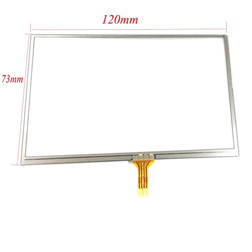 EUTOPING ® Transparente Farbe 5 Zoll Touchscreen - digitizer Alternative für Garmin nuvi 1470 1470T GPS 1470 Gps