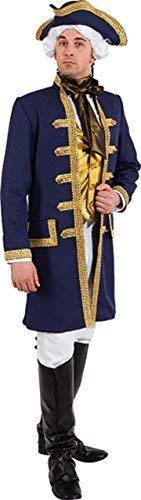 Fancy Me Herren Lord Admiral Nelson Königliche Marine Historisch Seemann Matrose Kapitän Kostüm Kleid Outfit - Blau, XX-Large (EU 58/60)