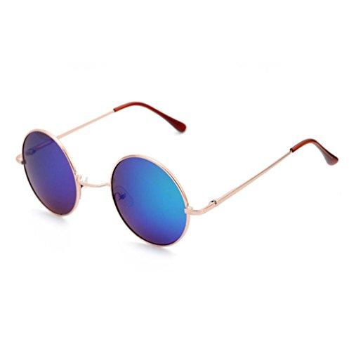 Sunglasses,Ba Zha  Women Fashion Circular Sunglasses Metal Frame Sunglasses Brand Classic Tone Mirr Ladies Cat Eye Women Sunglasses Vintage Eyeglasses Driving Fishing Accessories Sun Protection