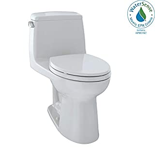 TOTO MS854114EL11 Eco Ultramax ADA Elongated One Piece Toilet, Colonial White