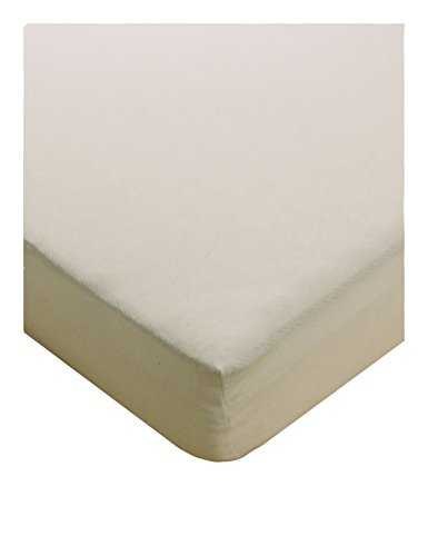 Julie Julsen® Fein Jersey Spannbettlaken Boxspringbett Wasserbett 97% Baumwolle 3% Elastan 90 x 190 cm - 100 x 200 cm Natur Weiß