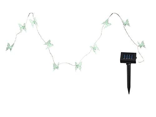 Lampe solaire LED guirlande papillon IP44 jardin terrasse changeur des couleurs
