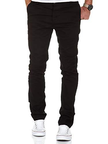 Amaci&Sons Herren Slim Fit Stretch Chino Hose Jeans 7100 Schwarz W32/L30 -