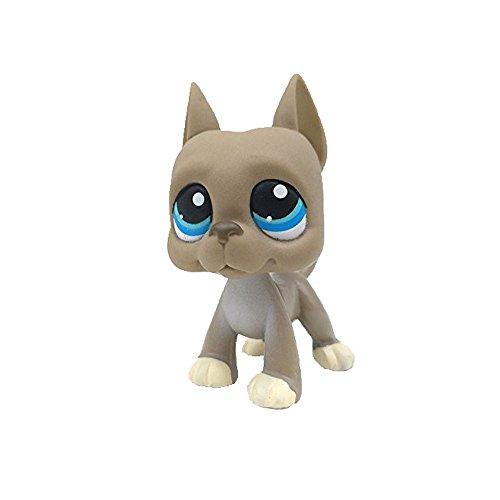 dreamsLE_Pet toy store Kind Mädchen Figur Spielzeug Lose Niedlich Pet Shop LPS Grau Big Dog große Blaue Augen #184 Für Kinder Mädchen Jungen (Graue Bulldogge)