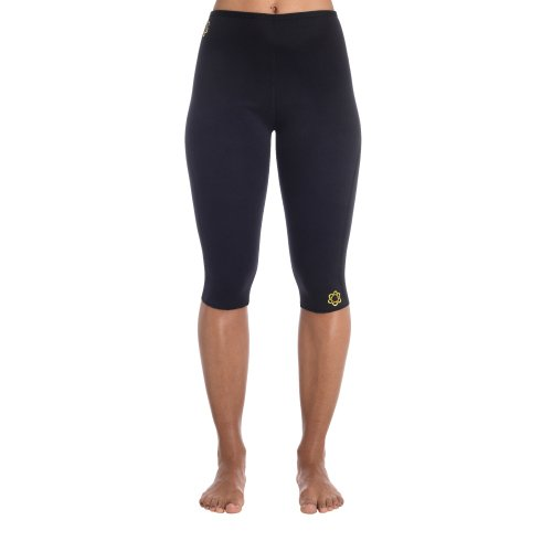 Zaggora - Leggings sportivi da donna, lunghezza media, nero (nero), (Thermo Fat Burner)