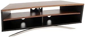 TECHLINK PR130SBW Prisma Contemporary and Walnut Stand for Upto 65-Inch TV - Satin Black