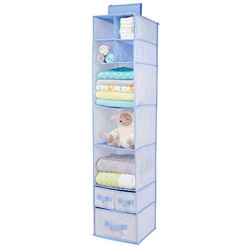 dd332c1d0 mDesign Armario colgante de fibra sintética – Organizador para armario de  los niños con 7 estantes