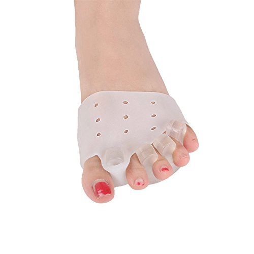 2 Paar Zehenstrecker Zehenspreizer Silikon Hallux Valgus Korrektor Hilfsmittel Fußpflege kit