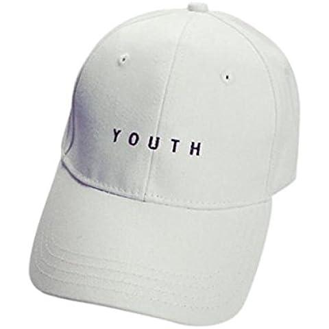 vovotrade algodon bordado Gorra de béisbol chicos Chicas Snapback sombrero plano de hip hop (