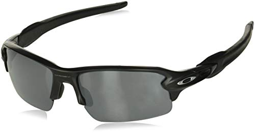 Oakley Herren Sonnenbrille Flak 2 Schwarz (Matte Black/Blackiridium), 59