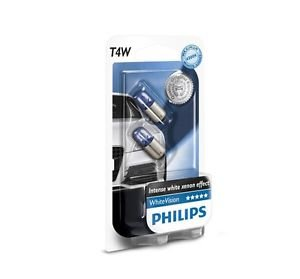 Preisvergleich Produktbild PHILIPS 12929NBVB2 T4W 12V 4W BA9s White Vision Xenon Blue Doppelblister