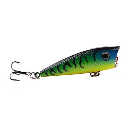 Laileya 6cm / 6.3g Colorido atraer a la Pesca de Agua Dulce Artificial de Agua Salada Ganchos de plástico Pescado swimbait