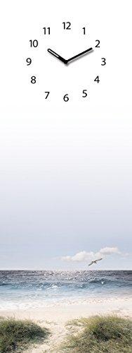 Eurographics Memoboard mit Uhr, beschriftbar, 30x80cm, Maverick, Strand, Blick aufs - Glas Maverick