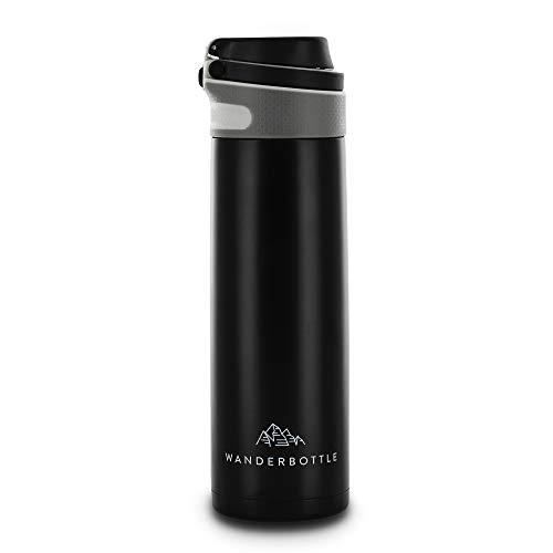 WanderBottle Premium Edelstahl Isolierflasche - 600ml Vakuum Thermosflasche - Innovative Trinkflasche für Sport, Outdoor, Reisen