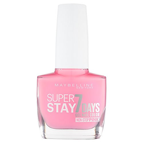 Maybelline Super Stay 7 Days Nagellack, Nr. 120 flushed pink, intensiv strahlende Farbe, extra-langer Halt, in zartem pink, 10 ml