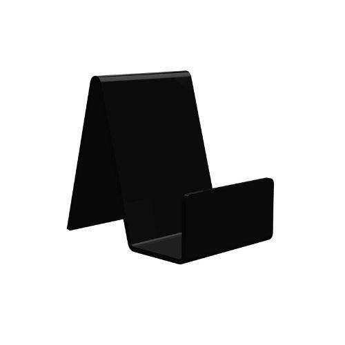 Displaypro–Marcos 5x pequeño negro acrílico función atril, para sujetar libros, teléfonos, hondos y más.–envío gratuito.