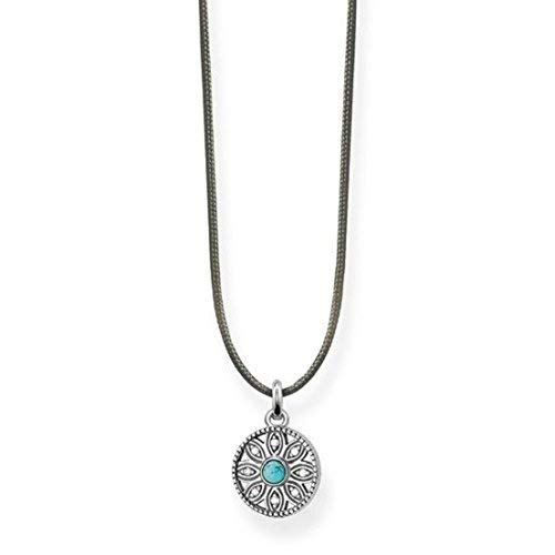 Thomas Sabo Damen-Kette Little Secret Ethno Amulett 925 Sterling Silber LSKE007-378-17-L80v