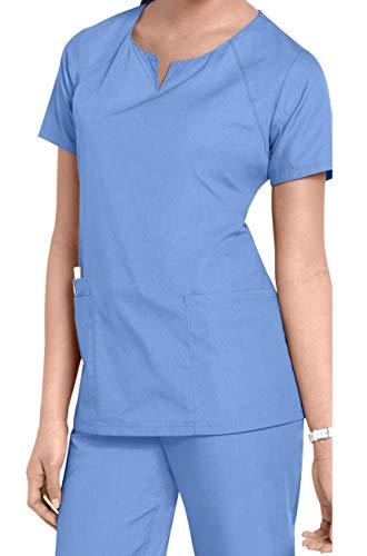 Smart Uniform 1706 Round Neck Top (S, Sky Blau)