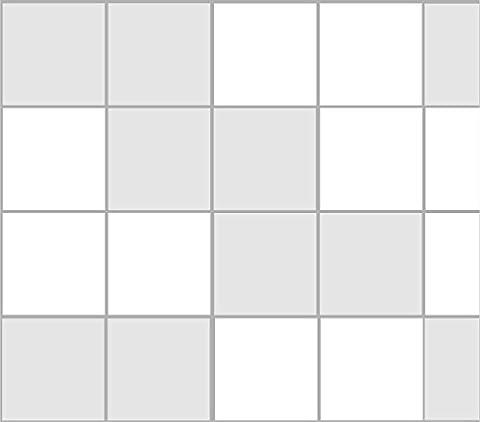 Stickerkoenig Stickers autocollants Décoration pour Carrelage 10x 10cm salle de bain cuisine 20–300Pièces Quantité et en 28couleurs au choix, gris