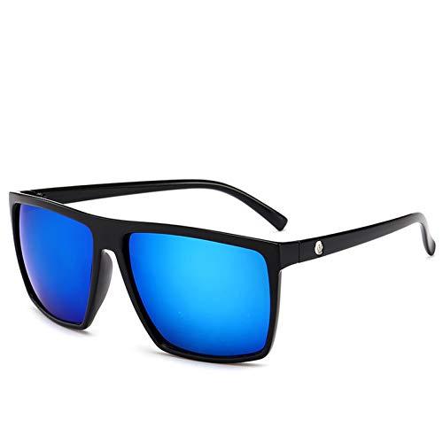 TIANKON Retro Frame Square männlich Sonnenbrille Männer alle schwarz übergroßen großen Sonnenbrille für Männer Frauen,C2