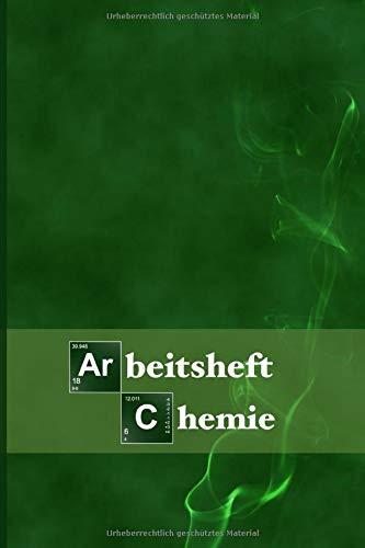 Arbeitsheft Chemie: Extra dickes Schreibheft für den Chemieunterricht I 120 Seiten I Liniert mit Hexagon Raster I mit Periodensystem I 6 x 9