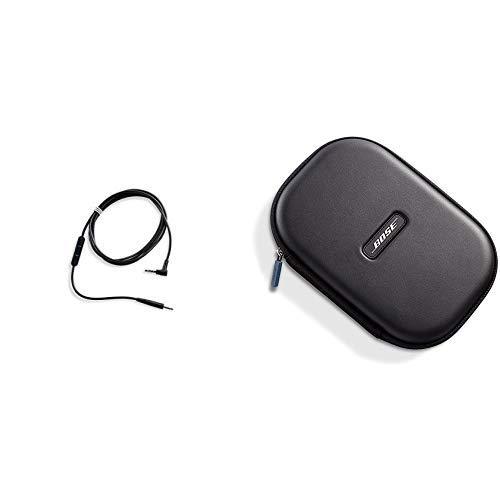 25 Kopfhörer-Kabel mit Inline-Mikrofon und Fernbedienungfür Samsung/Android Gerät schwarz & Transporttasche für QuietComfort 25 Kopfhörer schwarz ()