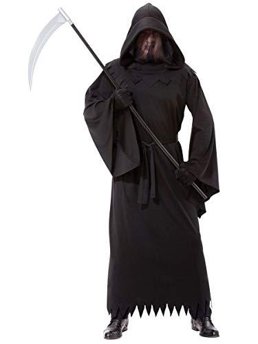 B-Creative Mens Halloween Kostüme Erwachsene Grim Reaper Phantom Dunkelheit ausgefallene Kleid - Phantom Reaper Kostüm