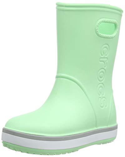 crocs Unisex-Kinder Crocband Rain Boot Kids Gummistiefel, Grün (Neo Mint/Light Grey 3to), 22/23 EU