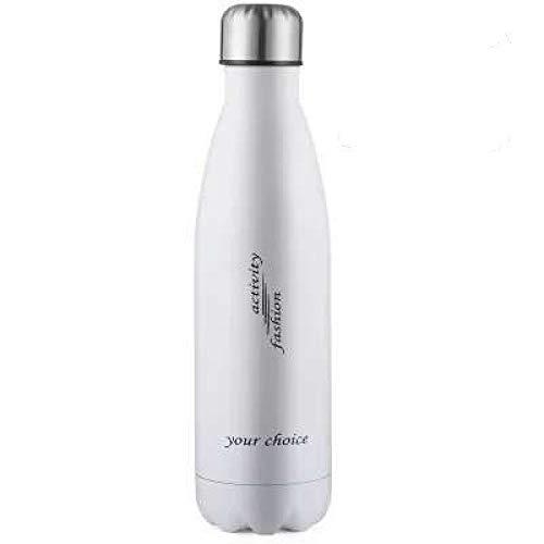 Saugnapf Vakuum Edelstahl Cola Flasche Outdoor Sportflasche weiß 500ml
