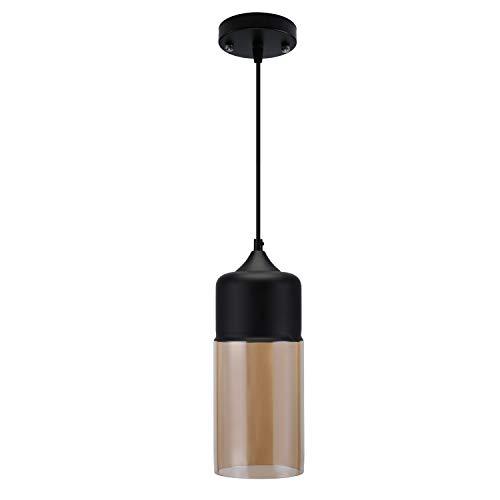 Lampop Pendelleuchte Vintage,Hängeleuchte Retro Glas, Hängelampe Industrial E27 Anhänger Deckenleuchten Küche, für Esstisch Esszimmer Küche Loft Schlafzimmer Cafes Bar Usw - Glühbirne Aus Glas Anhänger