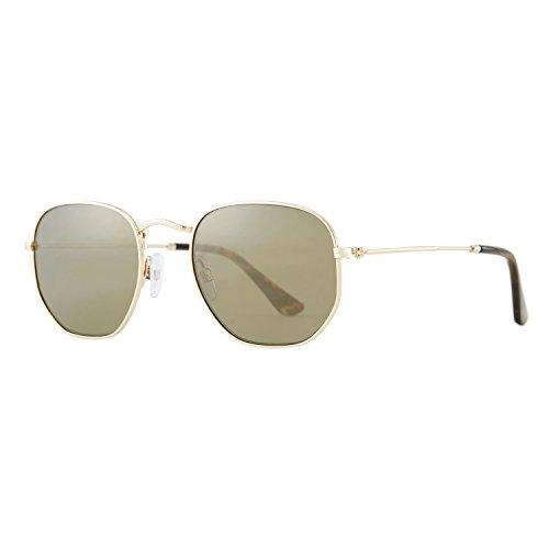 Avoalre occhiali da sole moda lenti polarizzate esagonali protezione uv400 mercurio rivestimento montatura tac moderno fashion per unisex ssljpg09-verde