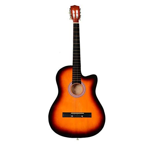 Caliybrid Akustikgitarre für Anfänger 38 Zoll Cutaway Gitarre mit Plektrum Sunset (Coole Plektren Plektren)