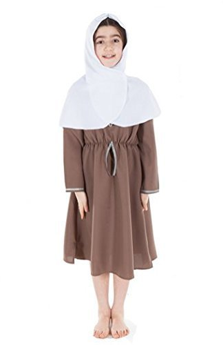Girls Anglo Saxon English Historical Costume 7 - 9 Years by Fancy Dress Costumes For (Kinder Anglo Saxon Kostüm)