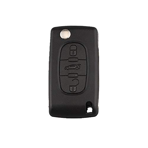 Yao Car 3 Buttons Remote Control Key Case Fit for PSA Peugeot Citroen Slot Trunk
