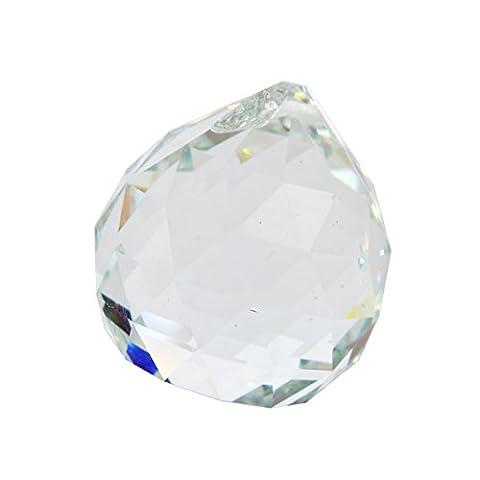 40mm Kristall Kugel Prismen für Kronleuchter, Deckenleuchte, Weihnachtsbaum, Fenster Display, Hochzeit Display, curtainsw mit rotem mxsabrina Armband, farblos
