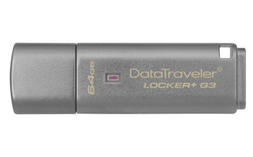 Kingston DTLPG3/64GB Data Traveler Locker + G3, USB 3.0, Sicurezza dei Dati Personali con Backup Automatico su Cloud